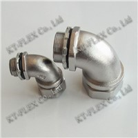 90 degree electrical liquid tight flexible conduit coupling conduit connectors