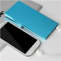 CB8 New Ultra-thin Metal Case 8000mAh Polymer Battery Charger Dual USB Power Bank for Smartphone