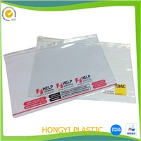 plastic document bag, clear PVC zipper bag