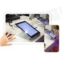 security alarm and charger tablet display stand