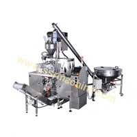 Auger Filler Feeding system complete line for Sugar, Milk powders, spices, etc   SP2-Doypack