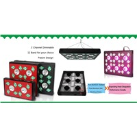 Full spectrum grow light 12 band grow led greenhouse lamp 60x2w veg 30w chip +3w/ 5w chip LEDs