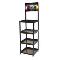 Metal freestanding 4 legs car retail store machine oil display stand