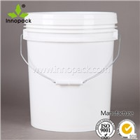 20L heavy duty plastic bucket with handle and lid