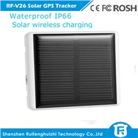 hi-tech waterproof solar wireless charging gps tracker tag for person and pets animal