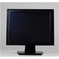 15-inch 5-wire resistive Touch panel LCD Monitor widely used as POS display