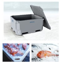 ROTATIONAL MOLDING INSULATED FISH CONTAINER