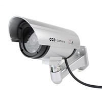 Security CCTV False Outdoor CCD Camera Red LED Light Bullet Dummy Camera