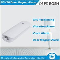 Long standby time gps anti-lost device tracker with 4500mah power bank and door burglar alarm rf-v20