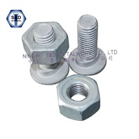 Guard Rail Bolts ASTM A307 GradeA With Guard Rail Nuts SAE J995 Grade2