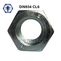 DIN934 Hex Nuts Class 6 3cr+Zinc Plated