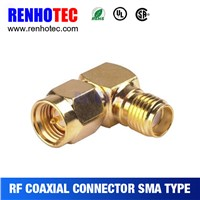 High quality right angle SMA waterproof connector for cable