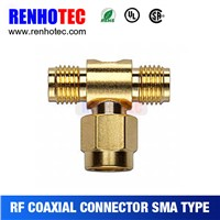 Two Female to one male T Sma connectors