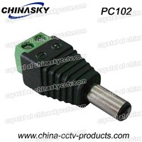 2.1 CCTV Male Power Connector  with Screw Terminals(PC102)