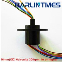 capsule slip ring of 16mm(OD) 6circuits 2A for UAV from Barlin Times