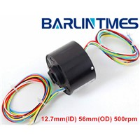 through hole slip ring of THR-012T 200 RPM 2A for robot from Barlin Times