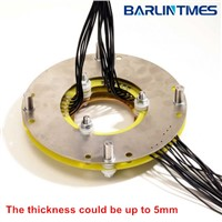 Pancake slip ring with through bore 50RPM for mining equipment from Barlin Times