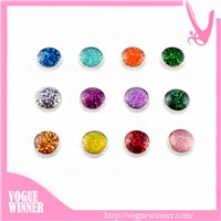 Living Glass Lockets 6mm Zinc Alloy Small Custom Floating Charms
