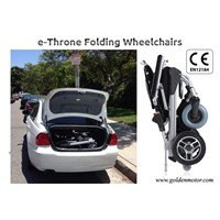 New Innovative design 12'' foldable power electric wheelchair CE/FDA approved, best in the world