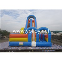 Inflatable Bouncy Slide,Inflatable Dry Slide Toy,Obstacle Commercial Slide for Kids