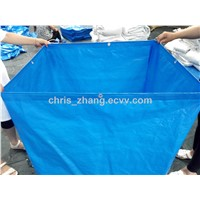 PE Tent, Tarpaulin Cover, 120g/M2 Blue/Blue Color