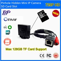 720P HD P2P Onvif H.264 Sd Card Storage Super Mini Pinhole IP Camera Support Phone CCTV IP Camera