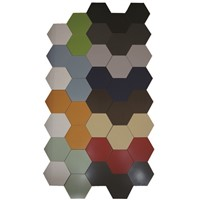 Pure colour ceramic tile hexagon tile