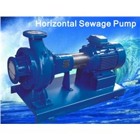 Horizontal sewage pump