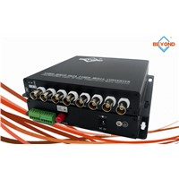 1/2/4/8 ch AHD to fiber optic converter with audio for monitoring system , AHD-M/AHD-H/AHD-L