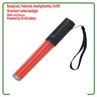 3 Modes 3XAA Battery 10 Inch 26cm PC Tube Led Red Traffic Wands Led Traffic Batons