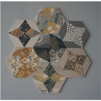 Flower Hexagon Living Room Wall Decorative Tile