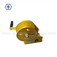 1200lbs Hand Winch Crane Yellow Zinc Plated Powder Coated