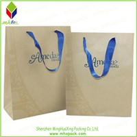 Custom Logo Printing Kraft Paper Shopping Bag