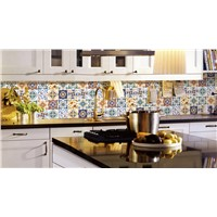 Flower Pattern Ceramics Porcelain Floor Tile For Kitchen Decoration