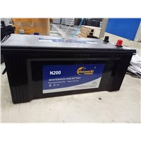 N200    12V200ah    car  battery    with  high  quanlity