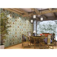 high quality european style matt surface flower ceramic glazed rustic tiles