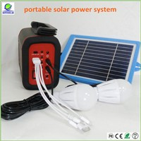 mini solar power system with led light and cellphone charger