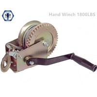 1800lbs Hand Winch Zinc Yellow