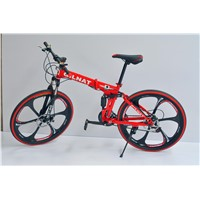21 speed 26 inch folding mountain bike magnesium alloy integrated wheel mtb can be folded