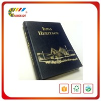 Good quality coated paper sewing binding business hardcover book printing