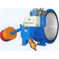 Heavy hammer hydraulic control slowing closed butterfly valve