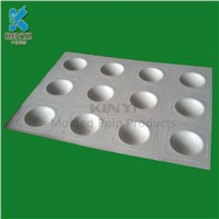 Food-Grade Sugarcane Bagasse Pulp Molded Chocolate Insert Trays Packaging
