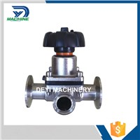 Sanitary High Quality 3 Way Diaphragm Tri Clamped Ends