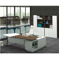 latest design office furniture freestanding office desk with returned desk