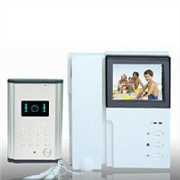 "4"" TFT color 300 DPI electric control apartment intercom video door phone system"