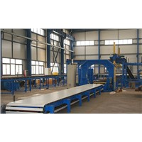 Panel stack wrapping package machine, panel stack wrapper using PE film