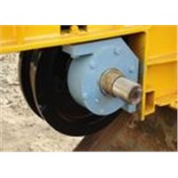 Industry railway trailer wheel with hardness 40