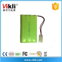 Cylindrical AA nimh battery 2000mah AA type 9.6V