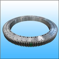 Three row roller slewing bearing with internal gear for wheeled excavator