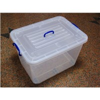 high flexible PP plastic storage box with wheel